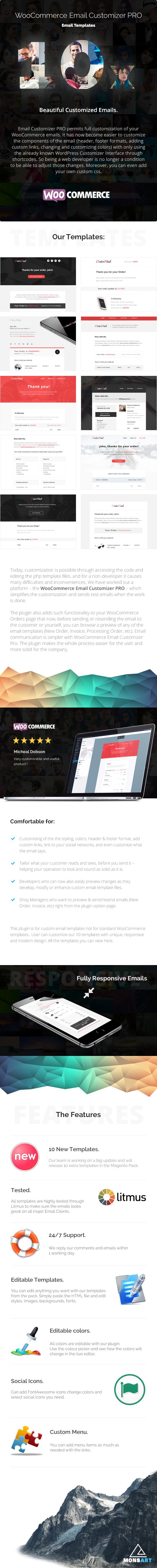 WooCommerce Email Customizer PRO 1
